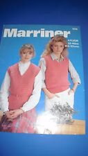 Marriner Women's Sweater Knitting Pattern 1976