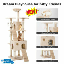 """New listing 68"""" Large Cat Tree Tower Furniture Scratch Post Kitty Cat Pet House Play Sleep"""