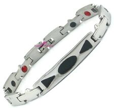 Mens Unisex Bio 4in1 Healing Magnetic Therapy ID Bracelet ARTHRITIS Pain Relief