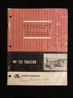 Massey- Ferguson MF 135 tractor operator's manual *2051