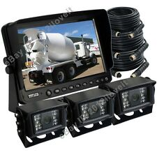 "AG FARM REAR VIEW KIT BACKUP CAMERA SYSTEM/ 9"" LCD MONITOR + 3 x CCD IR CAMERAS"