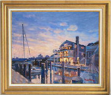 SUNSET IN MARTHA'S VINEYARD~LISTED ARTIST~ORIGINAL OIL PAINTING MARC FORESTIER