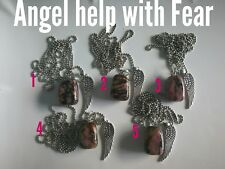 Code 679 Let the Angels help conquer Fear Rhodonite Choice Of 1 necklace only