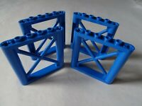 NEW LEGO PART 64448 BLUE 1 x 6 x 5 SUPPORT GIRDER RECTANGULAR x 4