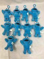 10PCS wholesales Sesame street cookie monster plush ornament dolls QT173 chains