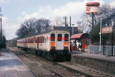 PHOTO  450 CLASS DEMU AT HELEN'S BAY STATION - 1988 IN 1987 NORTHERN IRELAND RAI
