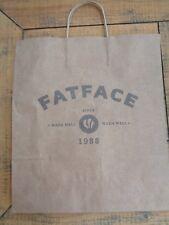 "Fat Face Brown Paper Carrier Bag 14"" x 16"""