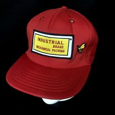 Vtg Industrial Brand Mechanical Packing Big Patch USA Made Snapback Baseball Cap