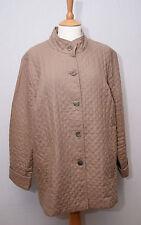 Orvis lightweight light brown diamond quilt padded linen country jacket uk 18