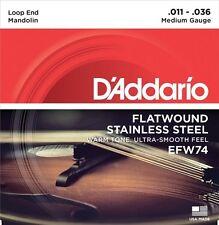D'Addario EFW74 Flat Wound Mandolin Strings, Medium, 11-36