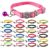 6pcs Nylon Safety Breakaway Cat Collars with Bell for Kitten Wholesale