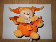 DOUDOU ET COMPAGNIE ours boule lutin orange