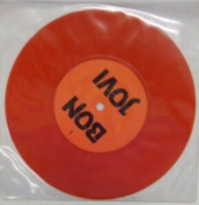 Bon Jovi, Interview, NEW/MINT Ltd edition RED vinyl 7 inch single