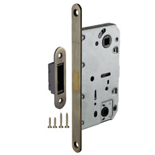Mortise Door Passage/Privacy Lock Body w/ Silent Magnetic Latch, Bronze
