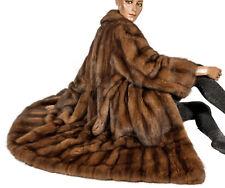 L XL ZOBEL Pelzmantel Sable fur coat Zibeline Pelz Mantel braun Swinger Luxus