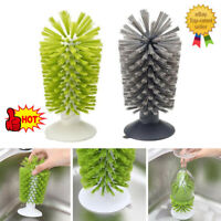Kitchen Sponge Brush Bottle Cup Wine Glass Washing Cleaning Cleaner Tool HOT UK