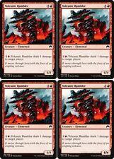 4x VOLCANIC RAMBLER Magic Origins MTG Red Creature — Elemental Com