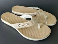NEW Sperry Women's Seabrook Tan Sandals Flip Flops Thongs - You Pick Size