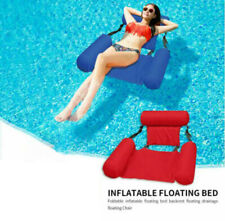 Inflatable Foldable Floating Bed Float Chair Beach Swimming Pool Raft Water Toy