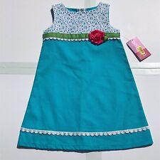 Little Girl Good Lad Sundress Summer Blue Pink Flower Party Dress Sleeveless New