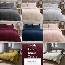 Sleepdown Teddy Fleece Thermal Warm Bedding Duvet Sets & Pillow Case