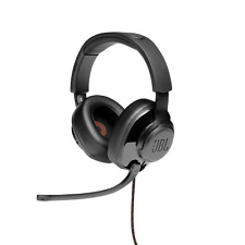 JBL Quantum 300 Hybrid Wired Over-ear Gaming Headset with Flip-up Mic, Black