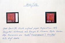 MALTA 1965 Gold Omitted SG334b Error Variety U/M Marginal NC1395