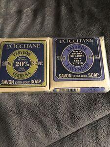 L'OCCITANE Lot Of 2 Shea Butter Pure Vegetable Soap 3.5 oz New Lavender/Verbena