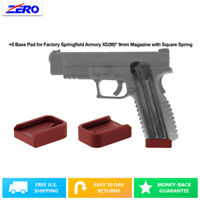Red Springfield Armory XD(M) 9mm Magazine +0 Base Pad Aluminum Extended USA