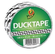 Duck Tape Black Mustache Design - Heavy Duty 1.88 in x 10 yd Duct Tape