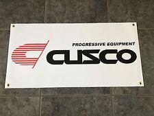 Cusco Progressive Equipment banner sign shop garage suspension coilovers racing