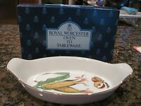 Royal Worcester Evesham Gold Oval Fish Dish (NIB)