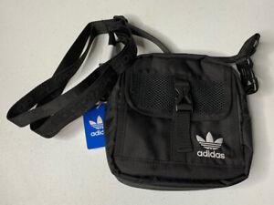 Adidas Originals Black Festival Large Crossbody Shoulder Bag NWT