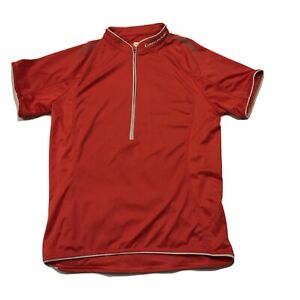 Cannondale Womens Medium 12 UK 40 FR 38 GR Red Bicycle 1/2 Zip Cycling Jersey