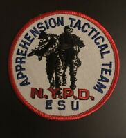 NYPD NEW YORK CITY POLICE EMERGENCY SERVICES ESU APPREHENSION TACTICAL A-TEAM