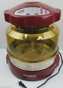 NuWave Pro Plus Infrared Oven in Red Model 20653 with Amber Dome
