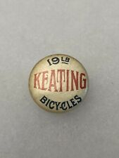 Antique 1890s 1900s Bicycle Stud Celluloid Button Pin 19lb KEATING BICYCLES