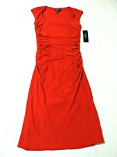 Ralph Lauren NWT Size 8 Sexy Sleeveless Red Draped Evening Gown Dress