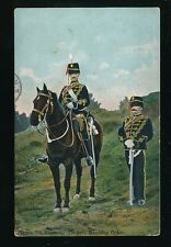 Military 7th HUSSARS Troopers Marching Order 1907 PPC