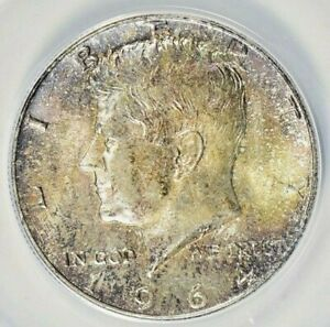 1964 KENNEDY SILVER HALF DOLLAR ANACS MS64 OLD TONED COIN MUST HAVE