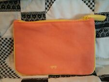 #163 Ipsy Glam Bag August 2018 Orange & Yellow Cosmetic Travel Makeup Bag Only