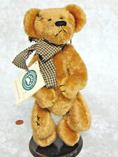 """NEW Boyds Teddy Bear 11"""" PATCHES B BEARILUVED & Doll Stand Bean Stuffed Animal!"""