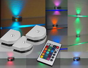 LED 3-Seiten RGB Glaskantenbeleuchtung Vitrinen Regal Schrankbeleuchtung Art2298
