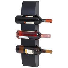 Étagère à vin Colmar étagère murale pour 3 bouteilles 54x13x9cm ~ noir