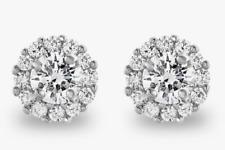 Earrings 14K White Gold Finish Radiant 2ct Lc Moissanite Stud