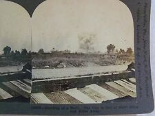 WW1 BURSTING OF SHELL GUN OUT OF SITE MILES & MILES AWAY! KEYSTONE STEREOVIEW 33