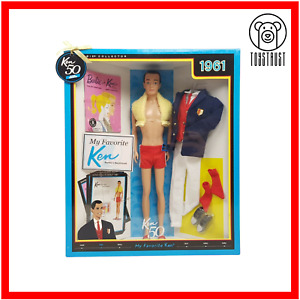 My Favorite Barbie Ken 1961 Mattel 50th Anniversary 2010 Collector T7668 NRFB