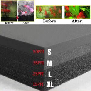 "Bio Sponge Filter Media Pad Cut-to-fit Foam 39"" or 19.69"" for Aquarium Fish Tank"
