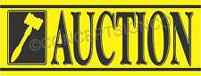 3'X8' AUCTION BANNER Outdoor Sign LARGE Auto Storage Agriculture Equipment Sales