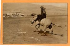 Real Photo Postcard RPPC - Rodeo Cowgirl Ella Merryfield Rogue River Round Up OR